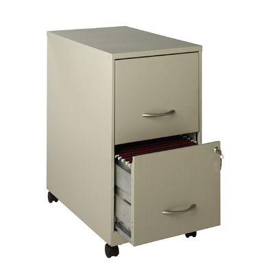 Hirsh Industries 2 Drawer Soho Mobile Pedestal File Finish:
