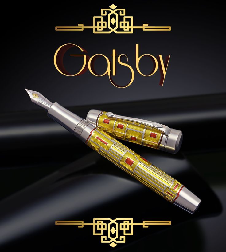 """Conway Stewart """"Gatsby"""" Limited Edition… only 100 numbered pieces of this beautiful hallmarked sterling silver and glowing enamel writing instrument. :-)"""