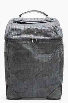 ALEXANDER WANG Black Croc-Embossed Leather Backpack on shopstyle.com