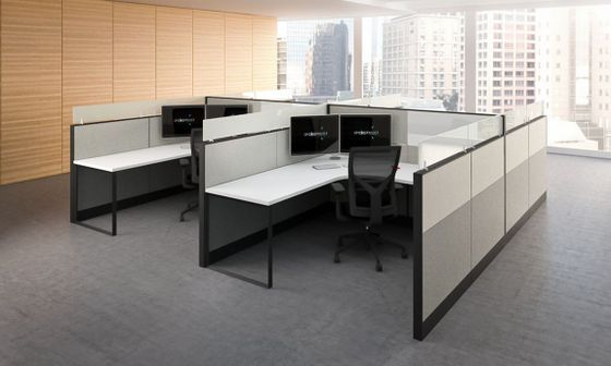modular office furniture modern workstations cool cubicles sit rh pinterest com