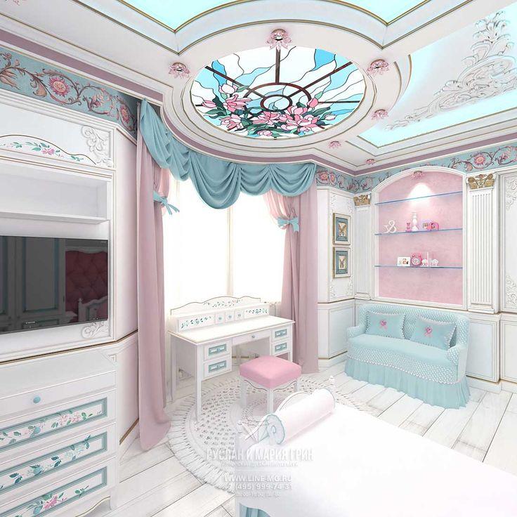 Детская комната для девочки  http://www.line-mg.ru/dizayn-detskoy-komnaty-dlya-malchika-i-devochki-foto-2015
