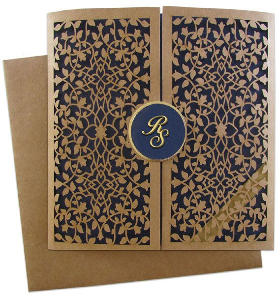 www.regalcards.com now showcasing this exquisite Laser cut Invitation card made from matt rustic material. Truly adorable and uniquely mesmerizing.