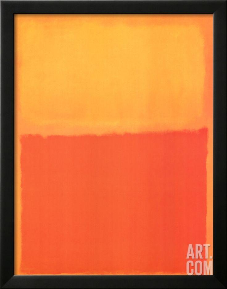 orange and yellow rothko printsmark