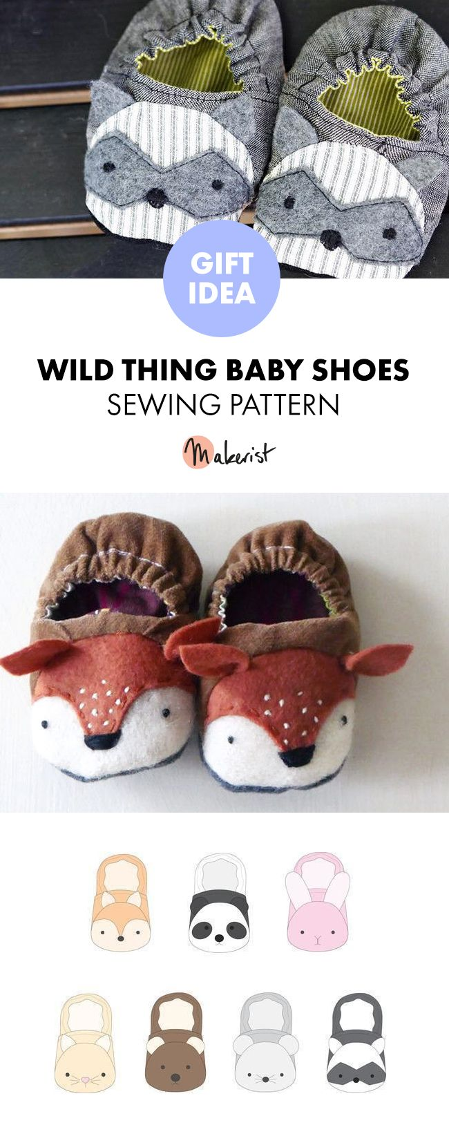 Twig and Tale Animal Baby Shoes – PDF Sewing Pattern