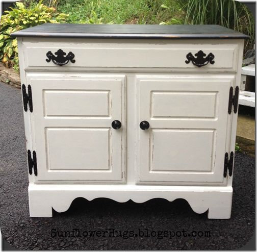 Beautiful Black And White Cabinet Painted Furniture Pinterest