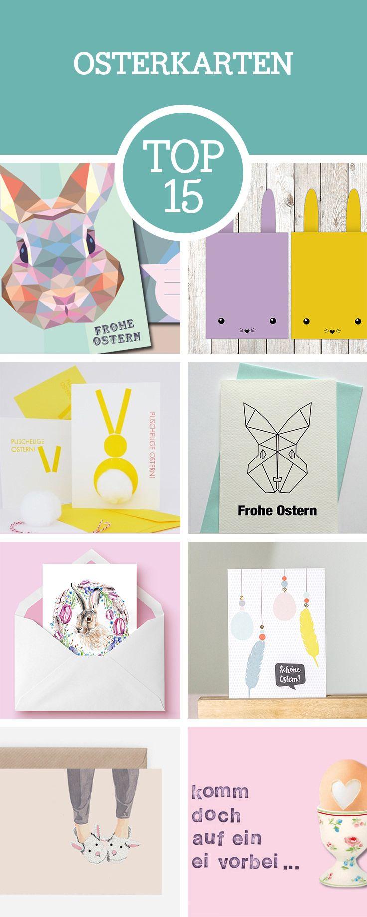 Deko und Grüße für Ostern: Wir zeigen Dir unsere Top 15 Lieblinge für Osterkarten / top 15 Easter greeting cards via DaWanda.com