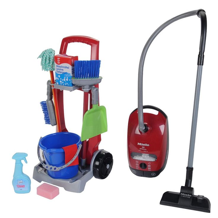 Theo Klein Cleaning Trolley and Miele Vacuum Set, Multicolor