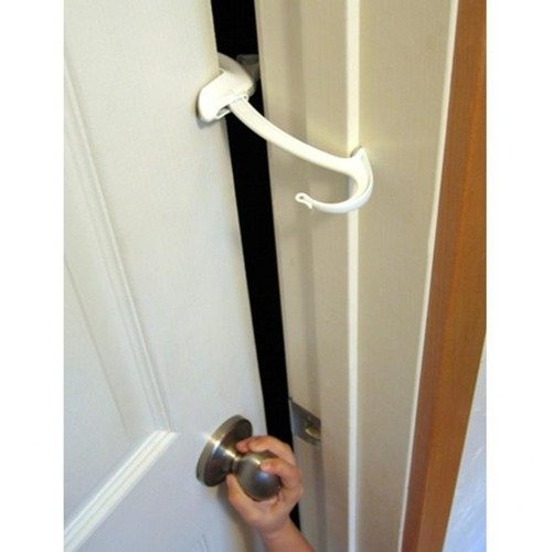 I remember my baby sister locking herself into a motel bathroom. Now I carry a Childproof Door Lock u0026 Pinch Guard to keep that from happening with our baby.  sc 1 st  Pinterest & 134 best Safety door clip images on Pinterest | Safety Home ideas ...