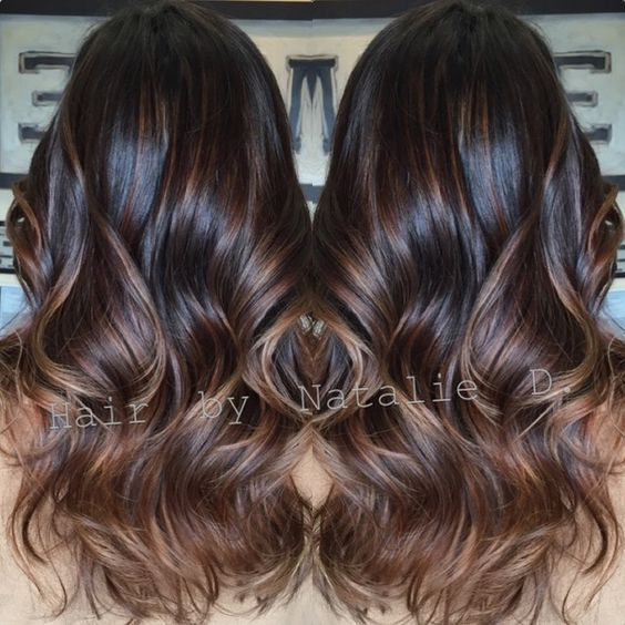 Black balayage'd hair...i WANT! !!!!: