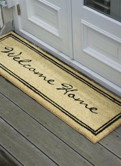 mooie mat voor bij de voordeur