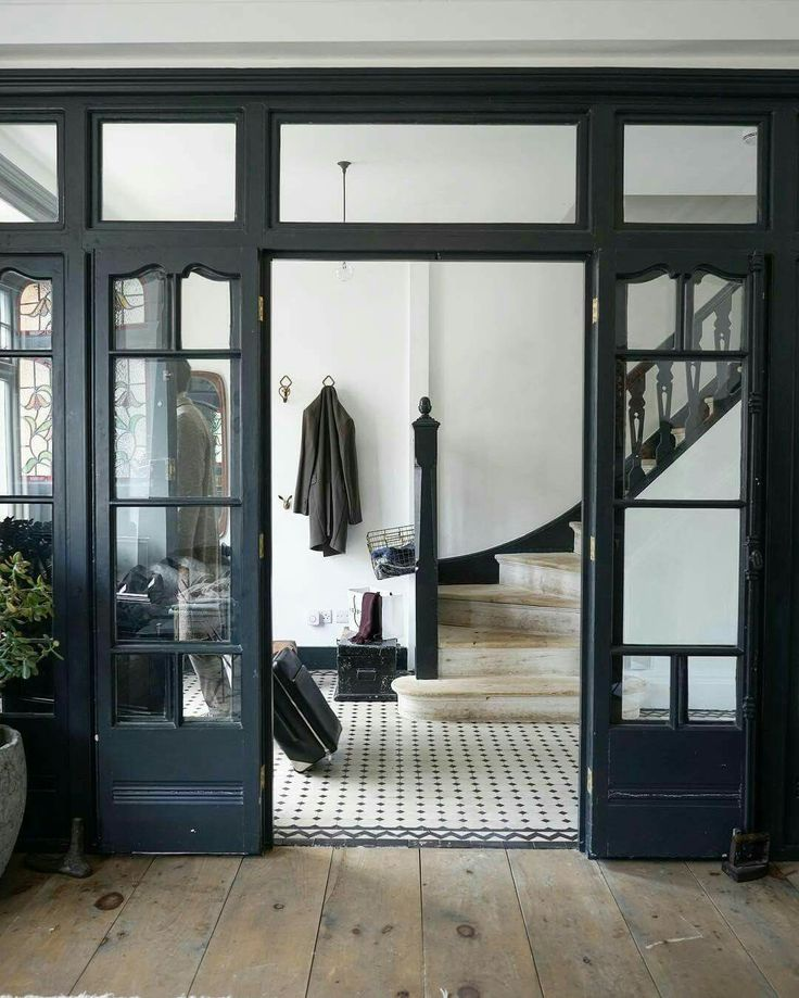 black framed interior doors & windows