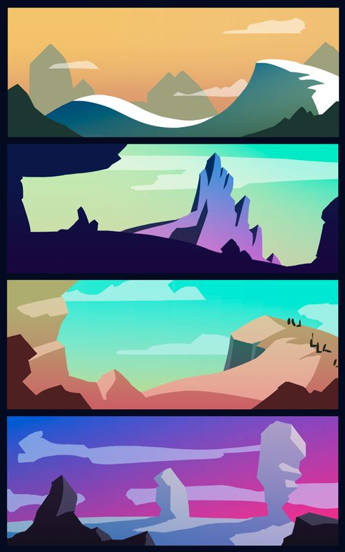 Digital background art, landscape studies, 2016 by Caroline Fangel