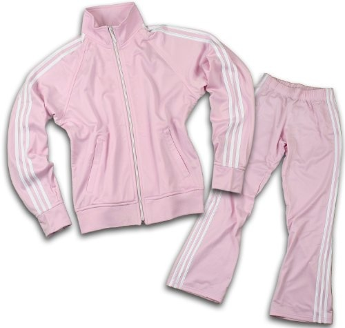 Adidas Womens Athletic and Casual Tracksuit, Pants and Jacket, Light Pink