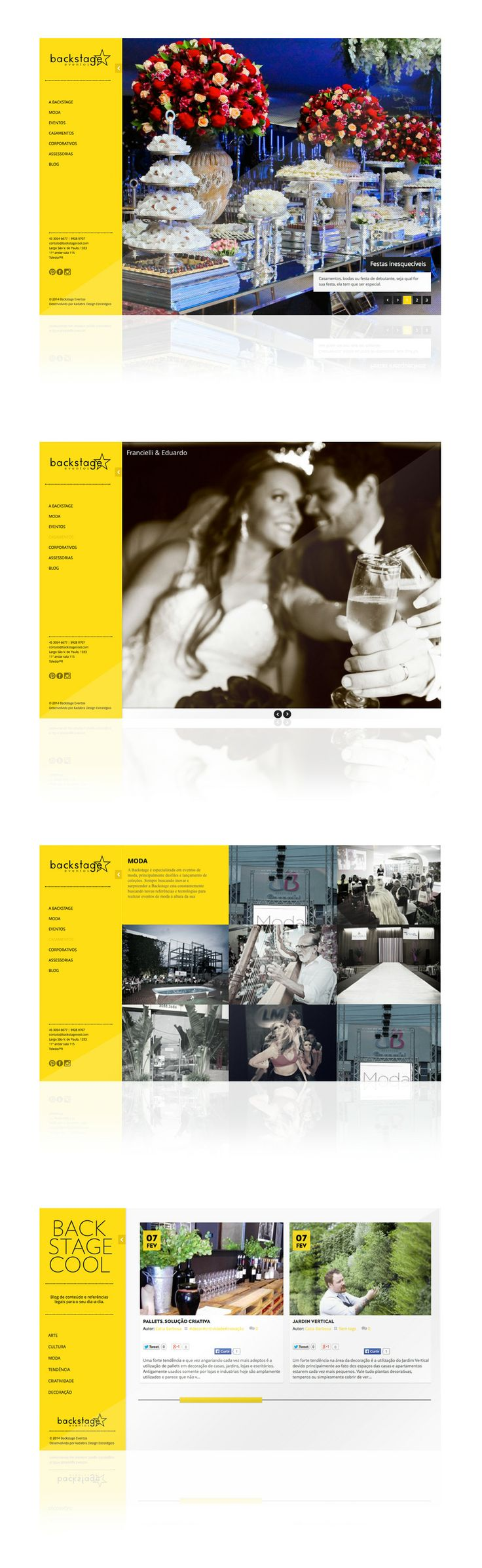 Estudo de design responsivo e programação do site www.backstagecool.com