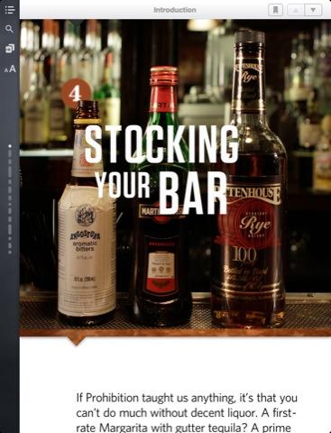 Speakeasy Cocktail App for iPad. nice.