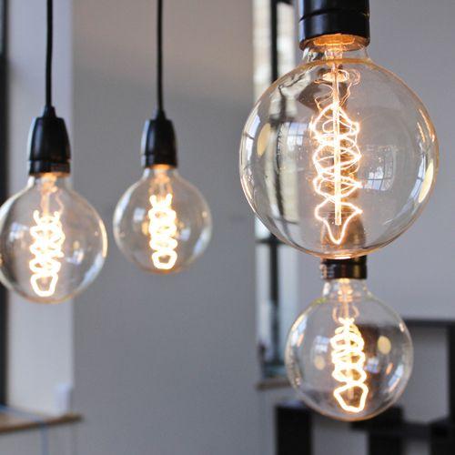 Ampoule globe E27/40W filament de carbone 125 mm Nud Collection