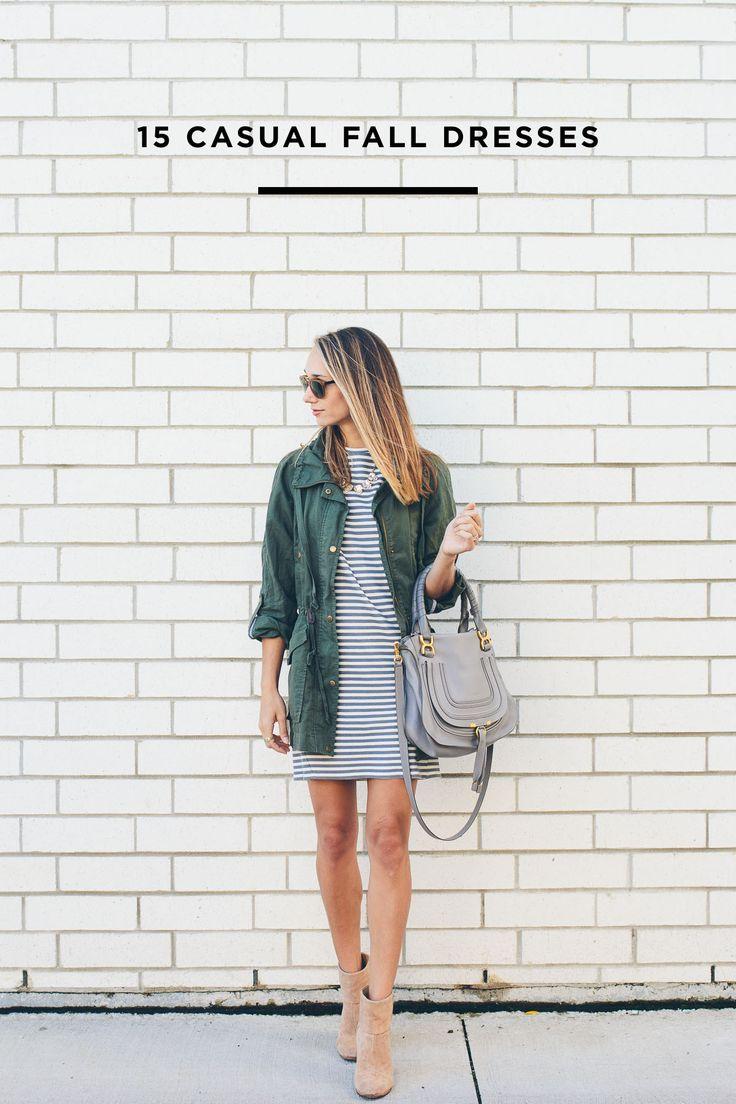 15 Casual Dresses for Fall — via @TheFoxandShe