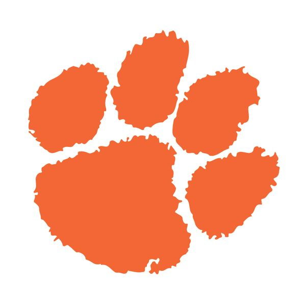 Clemson Tiger Paw Decal