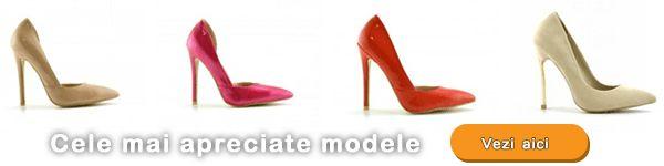 Pantofi Stiletto ieftini online din piele