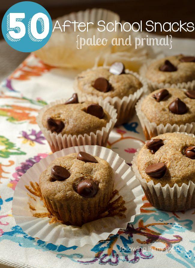 50 #Paleo #Primal #Grainfree After-School Snacks