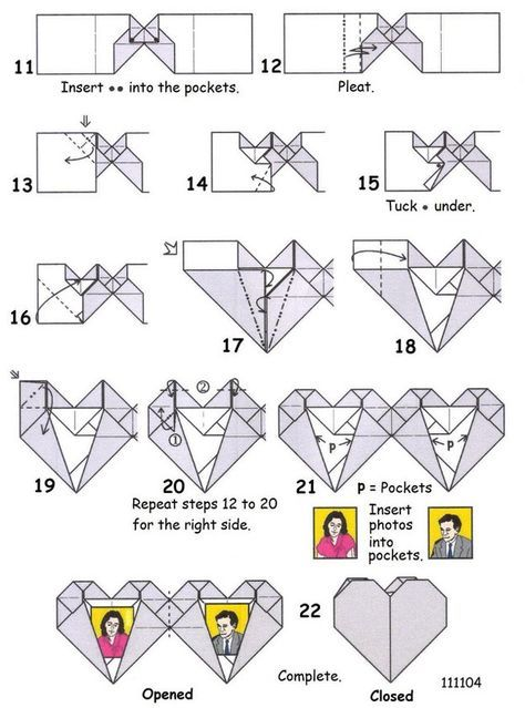 How To Make A Origami Heart Locket