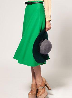 Daily steal green ASOS skirt