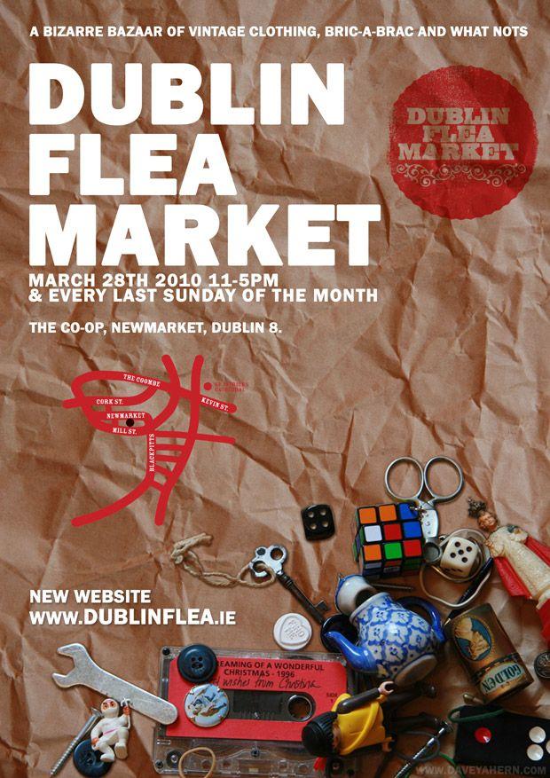 Dublin Flea Market poster | design by Davey Ahern