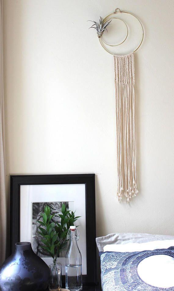 macrame wall hanging air plant