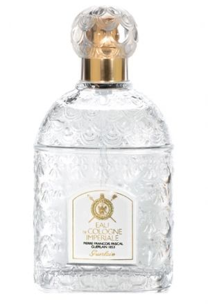 Eau de Cologne Imperiale. Top notes are orange, citruses, lemon verbena, neroli, bergamot and lemon; base notes are rosemary, tonka bean and cedar.