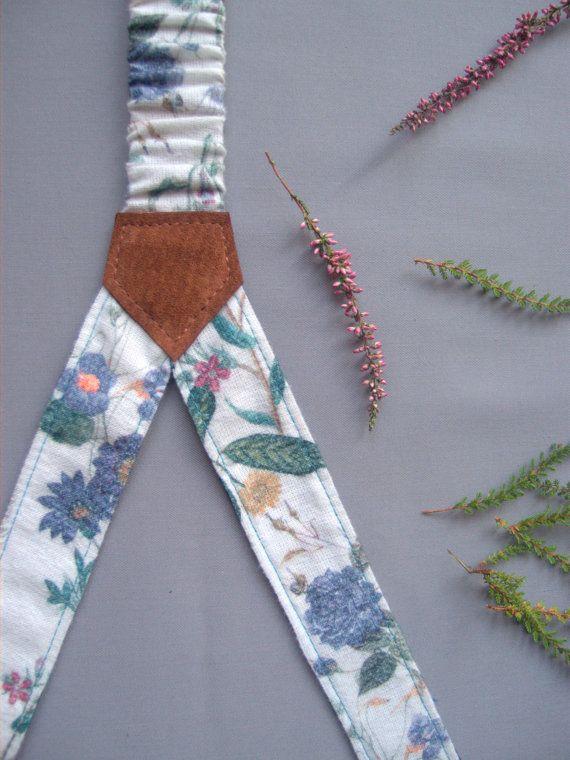 Womens Suspenders Women Braces Two Sided Adjustable by baboshkaa