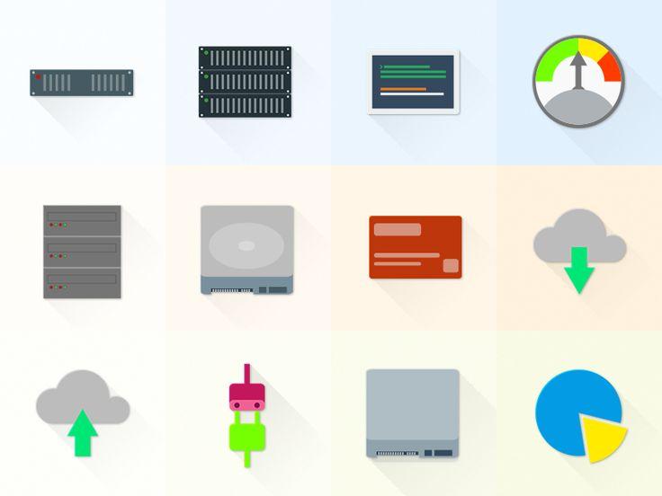 Free Set Of Material Design Hosting/Server Icons