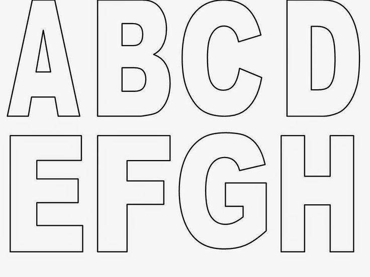 Estes moldes de letras são muito úteis! Imprima em papel firme e utilize para recortar letras em eva ou outros materiais como o feltro. E...