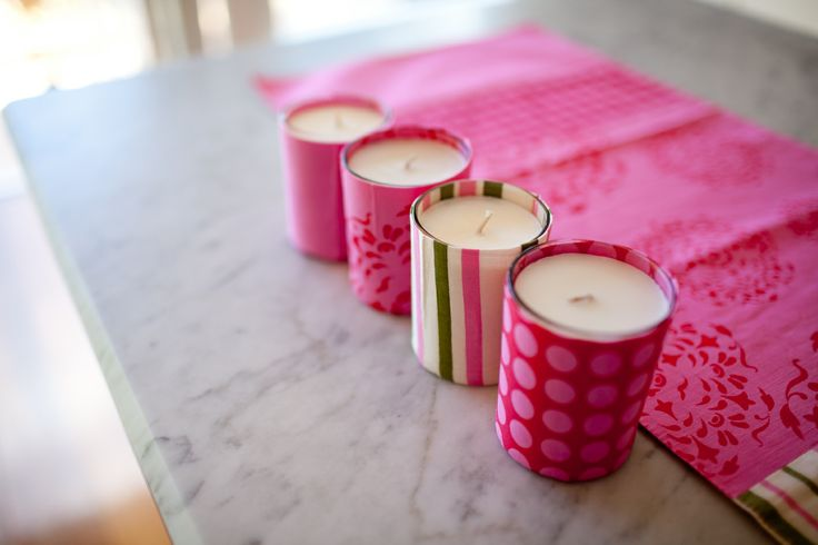 Candle Covers and candles - so cute, perfect mother's day gift.