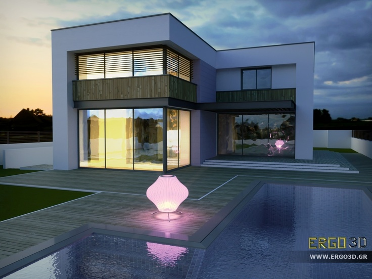 Ms house rendered with octanerender from sketchup model for Modern house sketchup
