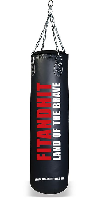 e60e9d2218 PUNCHING BAG (TPB145) Constructed of PVC coated Tarpaulin durable synthetic  vinyl. Heavy duty attachment with four part thick chain and swivel.