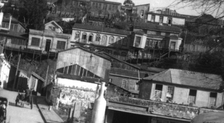 Calle Bulnes hacia Balmaceda - Cerro David Fuentes_1940.