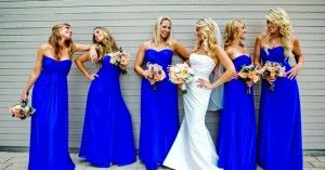 Gorgeous royal blue bridesmaid dresses