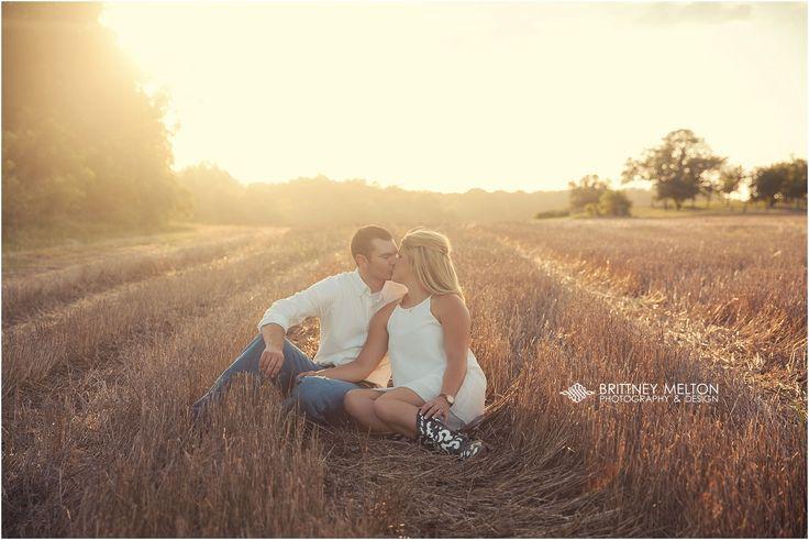 @kaitlynwisehart Kaitlyn & Jonathan - Field Engagement Photos ... Golden Light Engagements #BrittneyMeltonPhotography