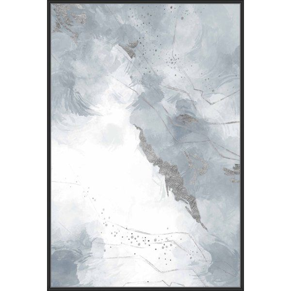 Gray White Wings I Framed Painting Print On Canvas Canvas Wall Art Painting Frames Canvas Prints