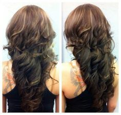 step cut hairstyle for curly hair back view - Google Search