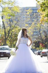 Bride posing in middle of street.  #torontoweddingphotography #torontoweddingvideography #weddingphotography #torontoweddings #torontowedding #culturalwedding #torontophotographer #torontovideographer #weddingvideography #torontobride