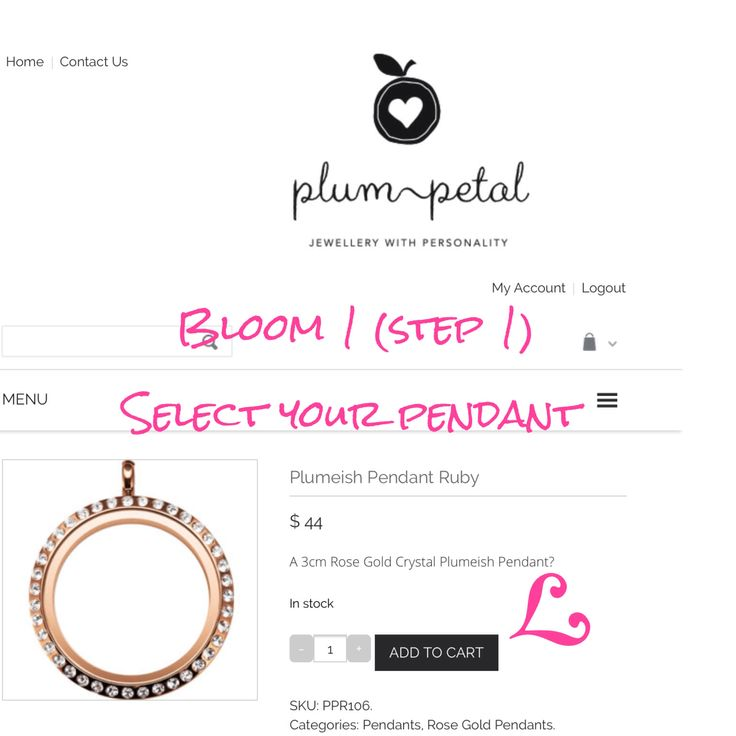 Bloom 1 Create your PLUMEISH PENDANT at www.plumpetal.com.au There are 4 simple steps as follows.