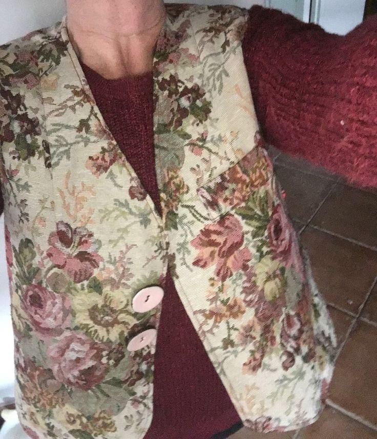 Waistcoat made for Wilma - handbag to follow.