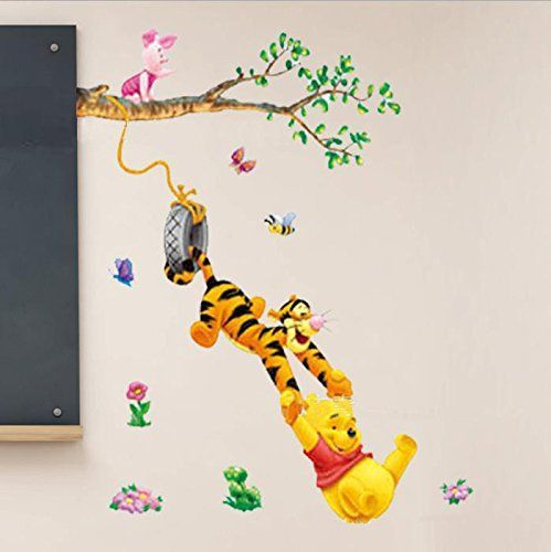 Best Removable Vinyl Wall Sticker Mural Decal Art Winnie the Pooh Swinging Wall Decal Unbelievable