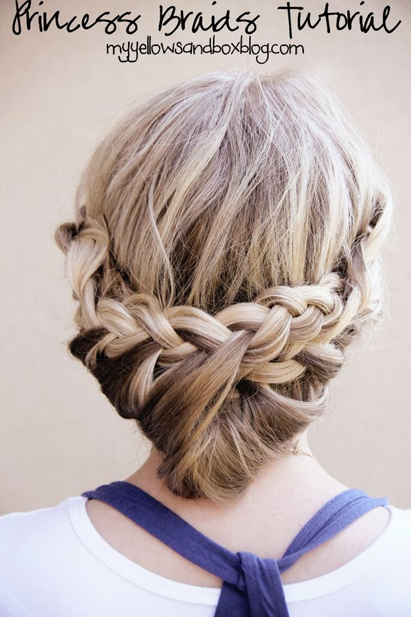 My Yellow Sandbox: Princess Braids Tutorial.  Very easy and Very Pretty.  I love Abby... and her blog is adorable to follow.