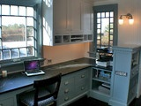 Desk area - eclectic - home office - other metro - by Artisan Kitchens LLC