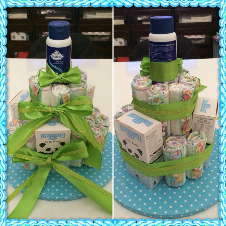 Diaper cake for baby Dario