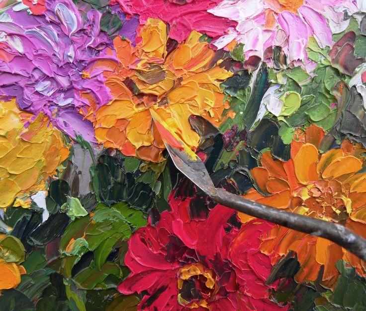 Barbara JAŚKIEWICZ - Impressionist  Palette Knife Oil on Linen - detail