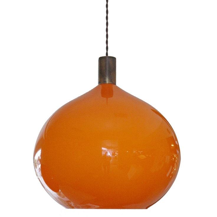 orange pendant light