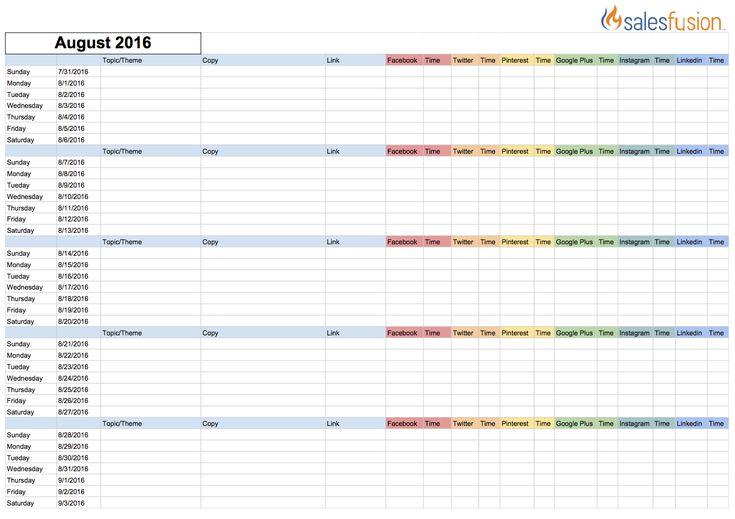 22 best marketing Plan Template images on Pinterest Marketing plan - social media tracking spreadsheet